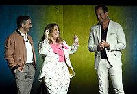 LAS VEGAS, NV - APRIL 24: Director/Actor Ben Falcone (L), actor Melissa McCarthy, and Will Arnett onstage during the Warner Bros. Pictures presentation at CinemaCon 2018 at The Colosseum at Caesars Palace on April 24, 2018 in Las Vegas, Nevada. (Photo by Frank Micelotta/PictureGroup)