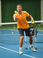 Netherlands, September 24, 2015, Almere, NTC, Bondscoach Rolstoeltennis, Coach Wheelchair tennis, Dennis Sporrel<br /> Photo: Tennisimages/Henk Koster