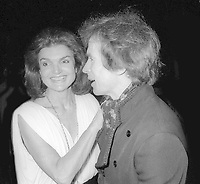 Jackie Kennedy Rudolph Nureyev 1978<br /> Photo By Adam Scull/PHOTOlink.net