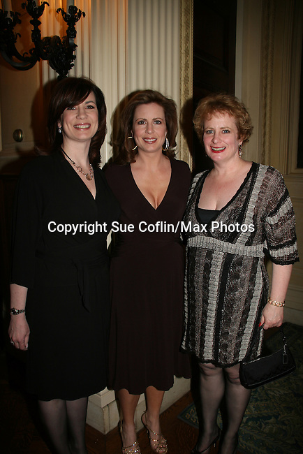 "Martha Byrne and her two sisters - Fran and Liz attended ""When You Wish Upon A Star"" on March 6, 2010 which benefits Child Life and Creative Arts Therapy Department, Maria Fareri Children's Hospital at Westchester Medical Center, Westchester, New York. The evening began with a cocktail reception and silent auction, a children's performance (singing) followed by dinner, dancing and more. (Photo by Sue Coflin/Max Photos)"