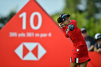 SINGAPORE - FEBRUARY 01: Jenny Shin of South Korea on the 10th tee during the second round of the HSBC Women's World Championship 2019 at Sentosa Golf Club - Tanjong Course, Singapore on March 01, 2019.<br /> .<br /> .<br /> .<br /> (Photo by: Naratip Golf Srisupab/SEALs Sports Images)<br /> .<br /> Any image use must include a mandatory credit line adjacent to the content which should read: Naratip Golf Srisupab/SEALs Sports Images