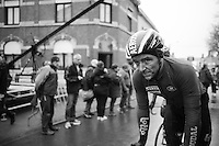 an exhausted & dirty Jasper de Buyst (BEL/Lotto-Soudal) rolling in after finishing<br /> <br /> GP Le Samyn 2017 (1.1)