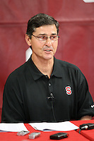 14 November 2006: Walt Harris addresses the media during a weekly news conference at the Arrillaga Family Sports Center in Stanford, CA.