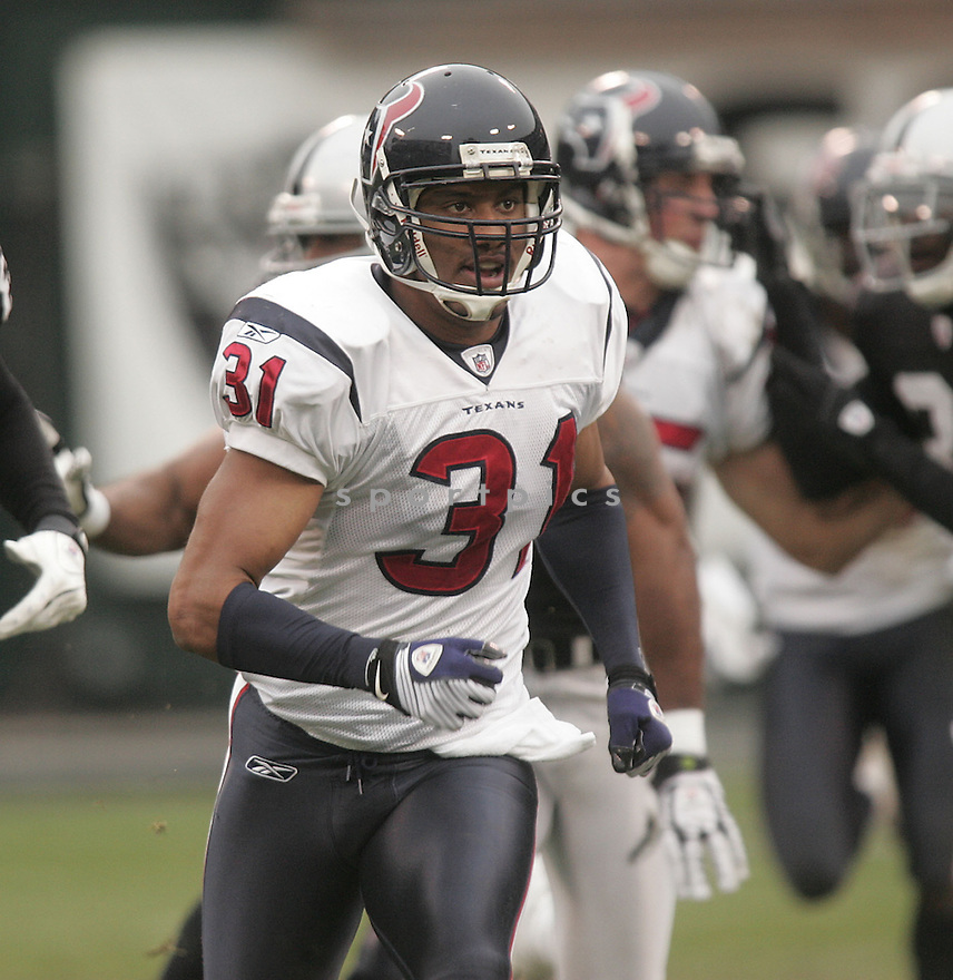 BRANDON HARRISON, of the Houston Texans , in action during the Texans  game against the Oakland Raiders on December 21, 2008 in Oakland, CA...Raiders win 27-16