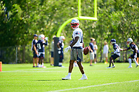 July 28, 2017: New England Patriots wide receiver Brandon Cooks (14) works out at the New England Patriots training camp held at Gillette Stadium, in Foxborough, Massachusetts. Eric Canha/CSM