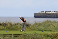Paul Carey (Nenagh) on the 4th tee during Matchplay Round 1 of the South of Ireland Amateur Open Championship at LaHinch Golf Club on Friday 22nd July 2016.<br /> Picture:  Golffile | Thos Caffrey<br /> <br /> All photos usage must carry mandatory copyright credit   (© Golffile | Thos Caffrey)
