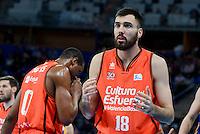 Valencia Basket's Pierre Oriola during Quarter Finals match of 2017 King's Cup at Fernando Buesa Arena in Vitoria, Spain. February 17, 2017. (ALTERPHOTOS/BorjaB.Hojas) /Nortephoto.com