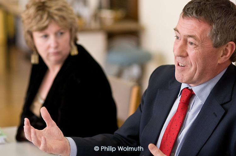 John Denham, Secretary of State at DIUS, and Karen Buck MP at a visit to Westminster Adult Education Service, Amberley Road.
