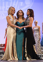 12 July, 2008:    The final three came down to (left) Miss Tri-Cities Kristen Cox, (center) Miss Pierce County Elizabeth Lamb-Ferro, (right ) Miss Tahoma Janet Harding at the 2008 Miss Washington pageant at the Pantages Theater in Tacoma , Washington.  Miss Tahoma Janet Harding won this years 2008 Washington pageant.