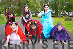 Keelan Coffey, Kim McTaigh, Lara Costello, Back L to R Aoife Delaney, Nicole Walker, Elisha Dawton get set to scare at the launch of the Tralee Chamber Alliance Halloween Fun Run & Disco in Tralee Town Park from 12pm on Wednesday 29th October