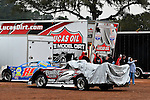 Feb 06, 2014; 6:56:20 PM; Waynesville, GA., USA; The Lucas Oil Late Model Dirt Series running The Georgia Boot Super Bowl of Racing at Golden Isles Speedway.  Mandatory Credit: (thesportswire.net)