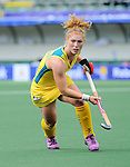 The Hague, Netherlands, June 05: Georgia Nanscawen #2 of Australia looks on during the field hockey group match (Women - Group A) between Belgium and Australia on June 5, 2014 during the World Cup 2014 at Kyocera Stadium in The Hague, Netherlands. Final score 2:3 (1:1) (Photo by Dirk Markgraf / www.265-images.com) *** Local caption ***