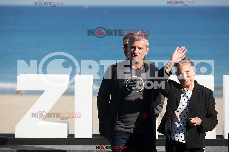 Director Asier Altuna and actress Amparo Badiola pose during `Amama´ film presenation at 63rd Donostia Zinemaldia (San Sebastian International Film Festival) in San Sebastian, Spain. September 21, 2015. (ALTERPHOTOS/Victor Blanco) /NortePhoto.com