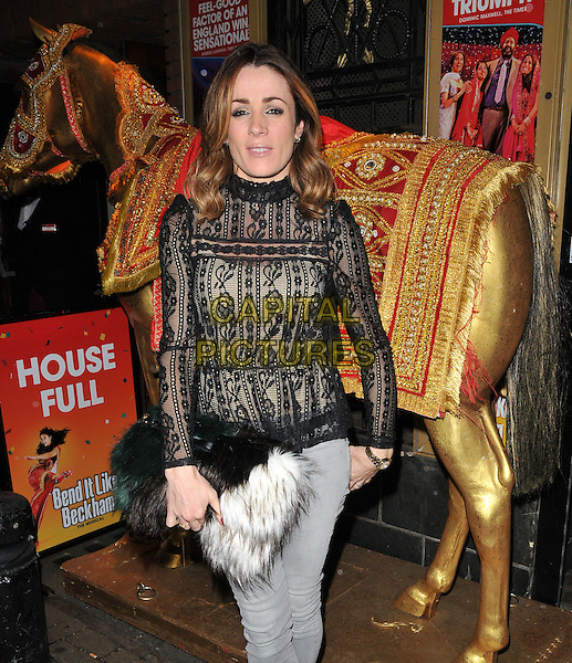 Natalie Pinkham attends the &quot;Bend It Like Beckham&quot; charity gala performance in aid of the Gynaecological Cancer Fund, Phoenix Theatre, Charing Cross Road, London, England, UK, on Friday 27 November 2015.<br /> CAP/CAN<br /> &copy;Can Nguyen/Capital Pictures