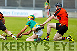 Action from Ballyheigue v Kilmoyley in R2 of the Senior Hurling championship on Saturday night.