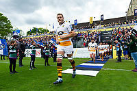 Joe Launchbury of Wasps leads his team onto the field. Gallagher Premiership match, between Bath Rugby and Wasps on May 5, 2019 at the Recreation Ground in Bath, England. Photo by: Patrick Khachfe / Onside Images