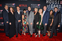 LOS ANGELES, CA. October 22, 2018: Campbell Scott, Diane Lane, Greg Kinnear, Constance Zimmer, Michael Kelly, Robin Wright, Patricia Clarkson, Boris McGiver, Nini Le Huynh &amp; Derek Cecil at the season 6 premiere for &quot;House of Cards&quot; at the Directors Guild Theatre.<br /> Picture: Paul Smith/Featureflash