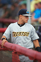 Trenton Thunder outfielder Mark Payton (15) before a game against the Binghamton Mets on August 8, 2015 at NYSEG Stadium in Binghamton, New York.  Trenton defeated Binghamton 4-2.  (Mike Janes/Four Seam Images)