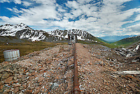 Abandoned mine, Talkeetna Mountains, Alaska.