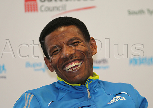 17.09.2010 Bupa Great North Run Press Conference. Haile Gebrselassie (ETH).