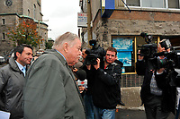 Montreal  (QC) CANADA - Oct 3 2009 - Family and PQ members gather to pay tribute filmmaker and separatist figure Pierre Falardeau, Oct 3rd 2009 at Saint-Jean-Baptiste church in Montreal. In the photo : Jacques Parizeau,