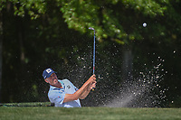 Matt Kuchar (USA) hits from the trap on 3 during round 1 of the Houston Open, Golf Club of Houston, Houston, Texas. 3/29/2018.<br /> Picture: Golffile | Ken Murray<br /> <br /> <br /> All photo usage must carry mandatory copyright credit (© Golffile | Ken Murray)