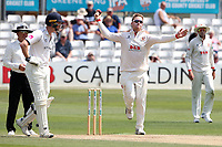 Simon Harmer of Essex in bowling action during Essex CCC vs Warwickshire CCC, Specsavers County Championship Division 1 Cricket at The Cloudfm County Ground on 16th July 2019