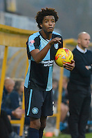 Wycombe Wanderers Sido Jombati during the Sky Bet League 2 match between Mansfield Town and Wycombe Wanderers at the One Call Stadium, Mansfield, England on 31 October 2015. Photo by Garry Griffiths.