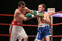 Billy Corcoran stops Sean Hughes in the 8th and final round at the Nottingham Ice Arena 24/11/06 - promoted by Hennessy Sports MANDATORY CREDIT: chris royle
