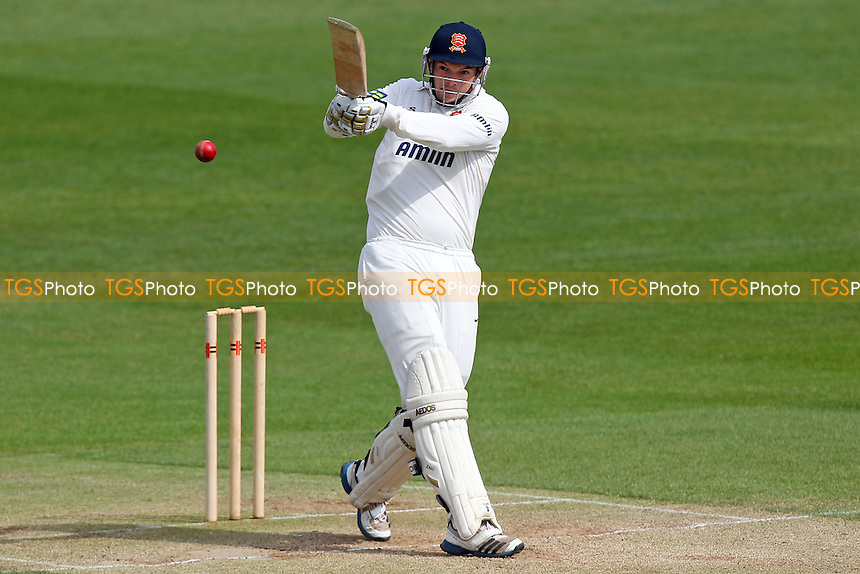 Nick Browne hits four runs for Essex - Essex CCC vs Kent CCC - Pre-Season Friendly Cricket Match at the Essex County Ground, Chelmsford - 03/04/14 - MANDATORY CREDIT: Gavin Ellis/TGSPHOTO - Self billing applies where appropriate - 0845 094 6026 - contact@tgsphoto.co.uk - NO UNPAID USE