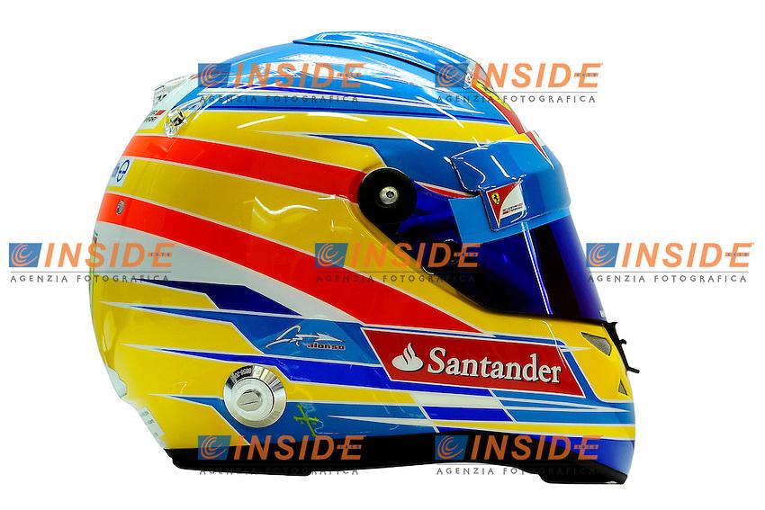 FERNANDO ALONSO (SPA) - FERRARI F151.Casco.Formula 1: Test Jerez 10/02/2012.Foto Insidefoto / Gilles Levent / PanoramiC.ITALY ONLY