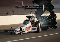 Oct 29, 2016; Las Vegas, NV, USA; NHRA top fuel driver Richie Crampton during qualifying for the Toyota Nationals at The Strip at Las Vegas Motor Speedway. Mandatory Credit: Mark J. Rebilas-USA TODAY Sports