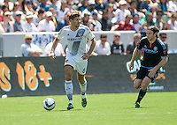 Carson, CA. - Sunday, August 23, 2015: The Los Angeles Galaxy defeat New York City FC 5-1 during Major League Soccer play at StubHub Center.