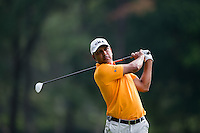 Jeev Milkha Singh of India in act at the final round of the Hong Kong Open golf tournament in Fanling Golf Club, Hong Kong,  25 Oct., 2015