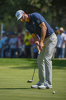 Dustin Johnson (USA) watches his par putt on 9 during round 4 of the World Golf Championships, Mexico, Club De Golf Chapultepec, Mexico City, Mexico. 3/4/2018.<br /> Picture: Golffile | Ken Murray<br /> <br /> <br /> All photo usage must carry mandatory copyright credit (&copy; Golffile | Ken Murray)