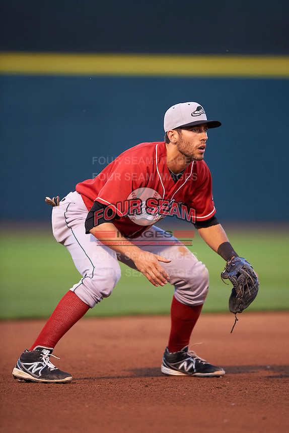 Great Lakes Loons third baseman Mike Ahmed (11) during a game against the Dayton Dragons on May 21, 2015 at Fifth Third Field in Dayton, Ohio.  Great Lakes defeated Dayton 4-3.  (Mike Janes/Four Seam Images)