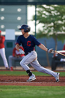 Cleveland Indians Sam Haggerty (16) during an instructional league game against the Cincinnati Reds on October 17, 2015 at the Goodyear Ballpark Complex in Goodyear, Arizona.  (Mike Janes/Four Seam Images)
