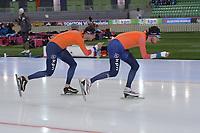 SPEEDSKATING: HAMAR: Vikingskipet, 28-02-2020, ISU World Speed Skating Championships, Sven Kramer (NED), Patrick Roest (NED), ©photo Martin de Jong