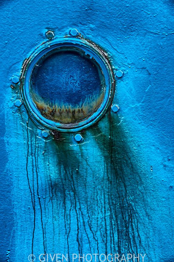 Window on weathered ship