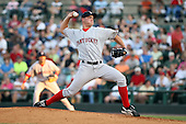 August 24 2008:  Starting Pitcher Michael Bowden (41) of the Pawtucket Red Sox, Class-AAA affiliate of the Boston Red Sox, during a game at Frontier Field in Rochester, NY.  Photo by:  Mike Janes/Four Seam Images
