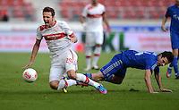 Fussball Europa League Play Offs:  Saison   2012/2013     VfB Stuttgart - Dynamo Moskau  22.08.2012 Christian Gentner (li, VfB Stuttgart) gegen Artur Yusupov (Dynamo Moskau)