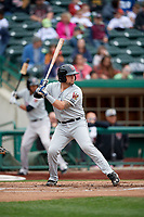 Wisconsin Timber Rattlers catcher Nathan Rodriguez (9) at bat during a game against the Fort Wayne TinCaps on May 10, 2017 at Parkview Field in Fort Wayne, Indiana.  Fort Wayne defeated Wisconsin 3-2.  (Mike Janes/Four Seam Images)