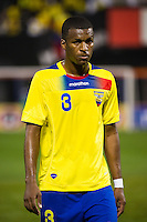 Fricson Erazo (3) of Ecuador. Ecuador defeated Chile 3-0 during an international friendly at Citi Field in Flushing, NY, on August 15, 2012.