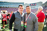 Kevin Plank, left, and Kenny Dichter during an NCAA Big Ten Conference football game against the Maryland Terrapins Saturday, October 21, 2017, in Madison, Wis. The Badgers won 38-13. (Photo by David Stluka)