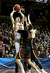 SIOUX FALLS, SD - MARCH 24: Zach Hankins #35 from Ferris State shoots over Carter Evans #54 and Darin Peterka #22 from Northern State during their game at the 2018 Men's NCAA DII National Championship at the Sanford Pentagon in Sioux Falls, SD. (Photo by Dave Eggen/Inertia)