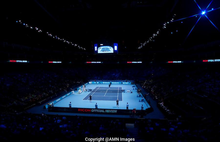 M Bhupathi/L Paes against M Fyrstenberg/M Matkowski in the semi-finals of the Barclays ATP World Tour Finals Doubles. ..@AMN IMAGES, Frey, Advantage Media Network, Level 1, Barry House, 20-22 Worple Road, London, SW19 4DH.Tel - +44 208 947 0100.email - mfrey@advantagemedianet.com.www.amnimages.photoshelter.com.