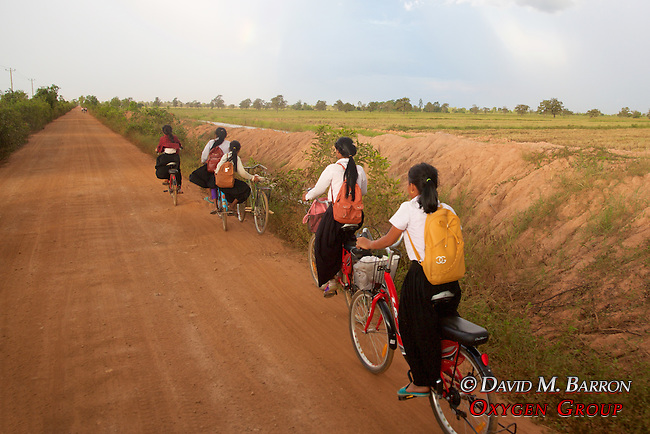 Students Riding On Bicycles