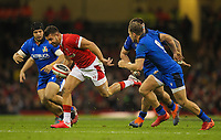 1st February 2020; Millennium Stadium, Cardiff, Glamorgan, Wales; International Rugby, Six Nations Rugby, Wales versus Italy; Rhys Webb of Wales evades the Italy breaks through the Italy defence