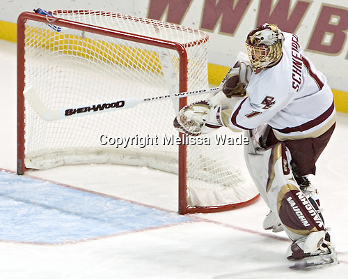 Cory Schneider - Boston College defeated Merrimack College 3-0 with Tim Filangieri's first two collegiate goals on November 26, 2005 at Kelley Rink/Conte Forum in Chestnut Hill, MA.