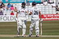 Nick Browne (L) and Alastair Cook enjoy a useful partnership for Essex during Essex CCC vs Somerset CCC, Specsavers County Championship Division 1 Cricket at The Cloudfm County Ground on 25th June 2018